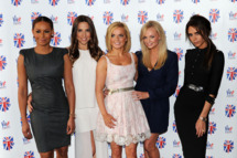 Melanie Brown, Melanie Chisholm, Geri Halliwell, Emma Bunton and Victoria Beckham of the Spice Girls attend launch of new musical based on the Spice Girls' music at St Pancras Renaissance Hotel on June 26, 2012 in London, England.