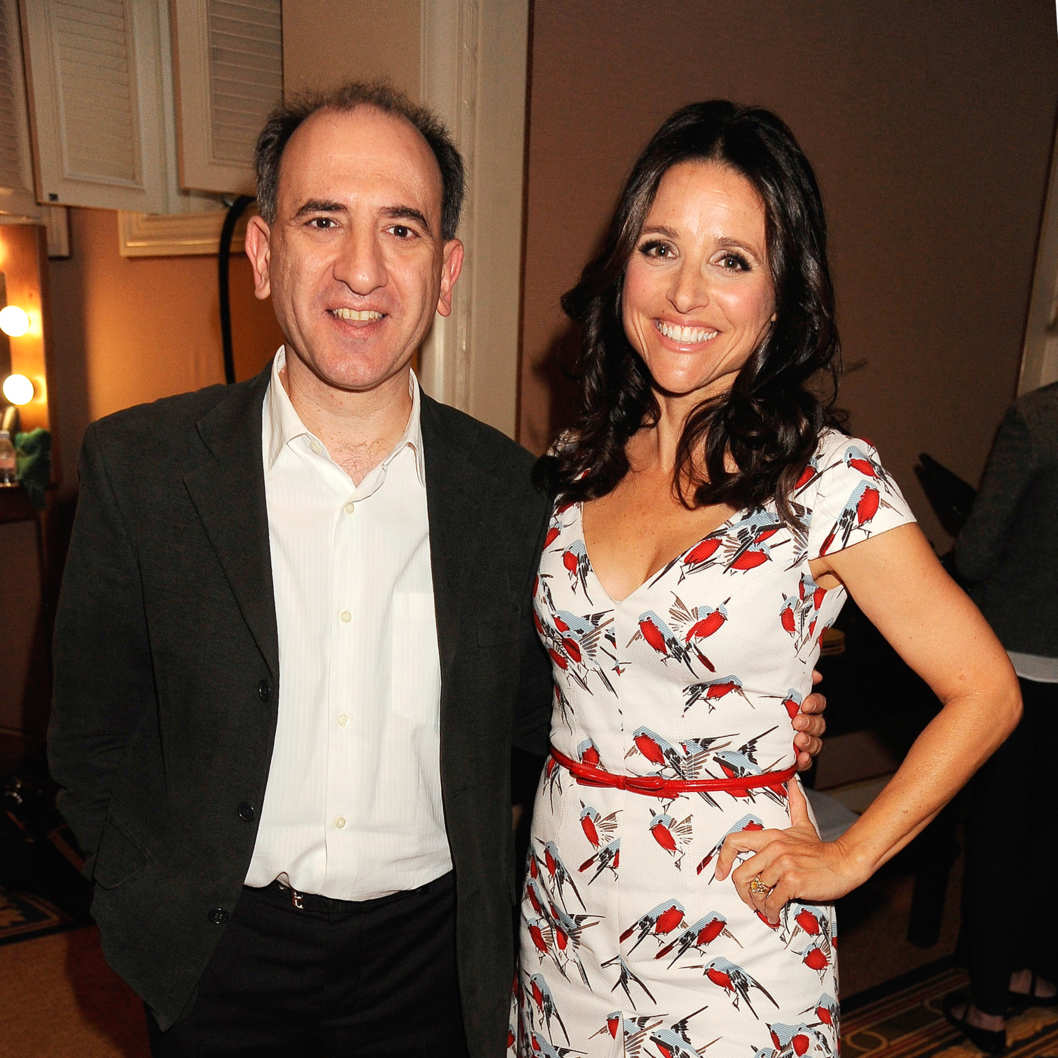 Creator/Executive Producer/Writer/Director Armando Iannucci and Producer Julia Louis-Dreyfus attend the HBO Winter 2012 TCA Panel