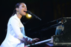 LOS ANGELES, CA - JUNE 12:  Recording artist Alicia Keys performs at City Of Hope Honors Clear Channel CEO Bob Pittman With Spirit Of Life Award at The Geffen Contemporary at MOCA on June 12, 2012 in Los Angeles, California.  (Photo by Michael Kovac/Getty Images for City of Hope)