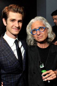 Actor Andrew Garfield and Dr. Jane Aronson attend the WWO cocktail honoring Dr. Jane Aronson at The Royalton Hotel