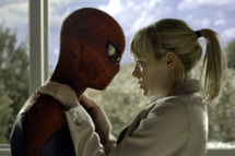 "Andrew Garfield as Spider-Man and Emma Stone star in Columbia Pictures' ""The Amazing Spider-Man."""