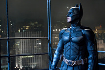 "CHRISTIAN BALE as Batman in Warner Bros. Pictures' and Legendary Pictures' action thriller ""THE DARK KNIGHT RISES,"" a Warner Bros. Pictures release."