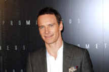 "Irish-German actor Michael Fassbender poses during a photocall for the Premiere of  ""Prometheus"" on April 11, 2012 in Paris."