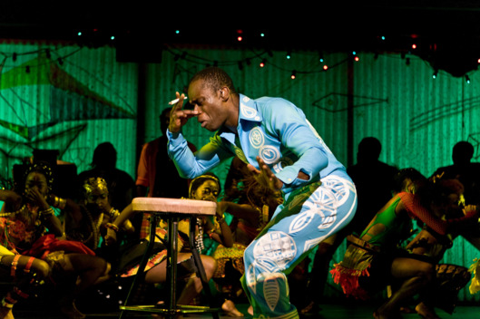 "Sahr Ngaujah in ""Fela!"" on Broadway at Al Hirschfeld Theater."