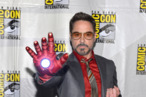 "SAN DIEGO, CA - JULY 14:  Actor Robert Downey Jr. arrives at the ""Iron Man 3"" panel with Marvel Studios during Comic-Con International 2012 at San Diego Convention Center on July 14, 2012 in San Diego, California.  (Photo by Alberto E. Rodriguez/WireImage)"