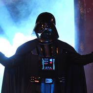 "UNIVERSAL CITY, CA - OCTOBER 15:  Darth Vader speaks onstage during Spike TV's ""SCREAM 2011"" awards held at Universal Studios on October 15, 2011 in Universal City, California.  (Photo by Kevin Winter/Getty Images)"