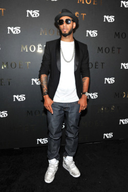 NEW YORK, NY - JULY 16:  Swizz Beatz attends Moet Rose Lounge Presents Nas' Life Is Good at Bagatelle on July 17, 2012 in New York City.  (Photo by Mike Coppola/Getty Images for Moet Rose)
