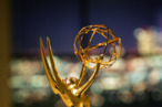 LOS ANGELES, CA - SEPTEMBER 15:  An Emmy statuette is seen in the Architectural Digest Greenroom, where celebrities will wait to go onstage during the 57th Annual Primetime Emmy Awards show at the Shrine Auditorium, on September 15, 2005 in Los Angles, California. The Emmys will take place on September 18.  (Photo by David McNew/Getty Images)