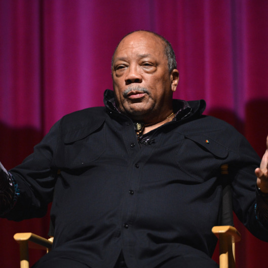 "Composer Quincy Jones attends a special screening of A&E Entertainment's ""Under African Skies"" on June 8, 2012 in Los Angeles, California."