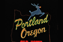 Portland Oregon - White Stag sign, Dec. 2010