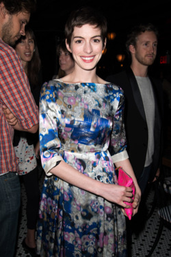 Anne Hathaway== The Peggy Siegal Company Presents a Special NY Screening of Sony Pictures Classics' CELESTE AND JESSE FOREVER== Landmark Sunshine Theater and Hotel Chantelle, NYC== August 01, 2012== ©Patrick McMullan== Photo - Andrew Toth/PatrickMcMullan.com== ==