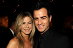 HOLLYWOOD, CA - JANUARY 28:  Actress-director Jennifer Aniston and actor-director Justin Theroux attend the 64th Annual Directors Guild Of America Awards cocktail reception held at the Grand Ballroom at Hollywood &amp; Highland on January 28, 2012 in Hollywood, California.  (Photo by Kevin Winter/Getty Images for DGA)