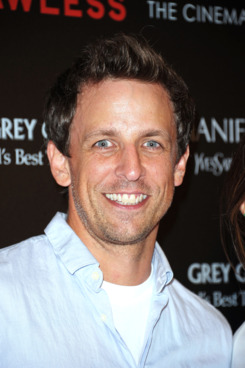 "Actor Seth Meyers attends The Cinema Society & Manifesto Yves Saint Laurent screening of The Weinstein Company's ""Lawless"" at The Paley Center for Media on August 13, 2012 in New York City."