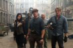 Maggie (Yu Nan, front left), Barney Ross (Sylvester Stallone, front center), Gunner Jensen (Dolph Lundgren, front right), Hale Caesar (Terry Crews, back left) and Toll Road (Randy Couture, back right) in THE EXPENDABLES 2.   Photo credit: Frank Masi