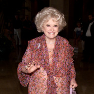 Phyllis Diller received a 'Lucy' at Women in Film's 7th Annual Lucy Awards for Innovation in Television at the Beverly Hilton in Beverly Hills, Ca. 9/8/00. Photo By Kevin Winter/Getty Images.