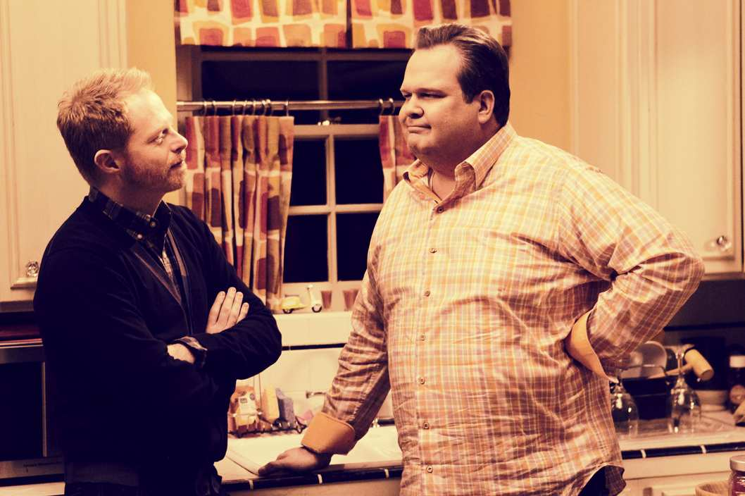 "MODERN FAMILY - ""The Last Walt"" - Claire delicately helps Luke cope with the fact that his friend and their old neighbor, Walt, has passed. Phil takes Alex for some father-daughter bonding time, and Haley throws an unauthorized party. Meanwhile, Jay and Gloria go over to Mitch and Cam's to have dinner with Cam's father, Merle, who is in town visiting -- and awkwardness and tension seem to be the rule of the night -- on ""Modern Family,"""