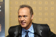 "Actor Michael Keaton attends a press conference for ""The Merry Gentleman"" at The Regency Hotel on April 20, 2009 in New York City."