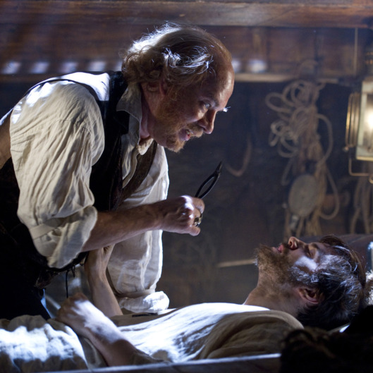 "(L-r) TOM HANKS as Dr. Goose and JIM STURGESS as Adam Ewing in the epic drama ""CLOUD ATLAS"", distributed domestically by Warner Bros. Pictures and in select international territories."