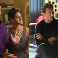 GO ON -- Episode 102 -- Pictured: (l-r) Sarah Baker as Sonia, Matthew Perry as Ryan King -- (Photo by: Justin Lubin/NBC)