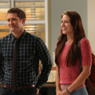 GLEE: Will (Matthew Morrison, L) introduces a Marley (Melissa Benoist, R) as a new member of the glee club in &amp;quot;The New Rachel,&amp;quot; the Season Four premiere episode of GLEE airing on a new night and time Thursday, Sept. 13 (9:00-10:00 PM ET/PT) on FOX. &amp;#xa9;2012 Fox Broadcasting Co. Cr: Mike Yarish/FOX