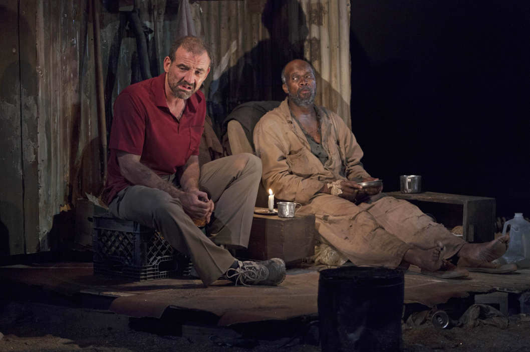 """The Train Driver"" Written & directed by Athol Fugard, Simon: Leon Addison Brown, Roelf: Ritchie Coster"