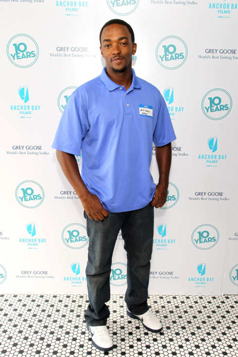 "Actor Anthony Mackie attends ""10 Years"" brunch reunion event hosted by GREY GOOSE Vodka And Anchor Bay Films at Hotel Chantelle on September 16, 2012 in New York City."