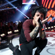 LAS VEGAS, NV - SEPTEMBER 21:  Frontman Billie Joe Armstrong of Green Day performs onstage during the 2012 iHeartRadio Music Festival at the MGM Grand Garden Arena on September 21, 2012 in Las Vegas, Nevada.  (Photo by Christopher Polk/Getty Images for Clear Channel)