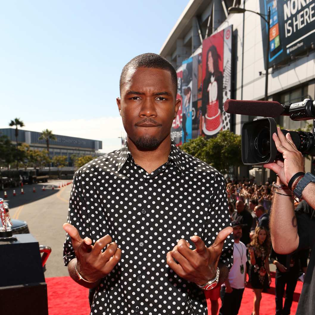 LOS ANGELES, CA - SEPTEMBER 06:  Recording artist Frank Ocean arrives at the 2012 MTV Video Music Awards at Staples Center on September 6, 2012 in Los Angeles, California.  (Photo by Christopher Polk/Getty Images)