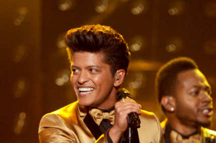 Musician Bruno Mars performs onstage at the 54th Annual GRAMMY Awards held at Staples Center on February 12, 2012 in Los Angeles, California.