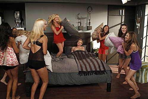 """The Pre-Nup"" -- When Barney (Neil Patrick Harris, center) designs an extensive pre-nup, the guys take note and propose their own relationship amendments to their significant others. Meanwhile, Quinn (Becki Newton, left center) is outraged and draws up a pre-nup of her own, which causes friction between t"