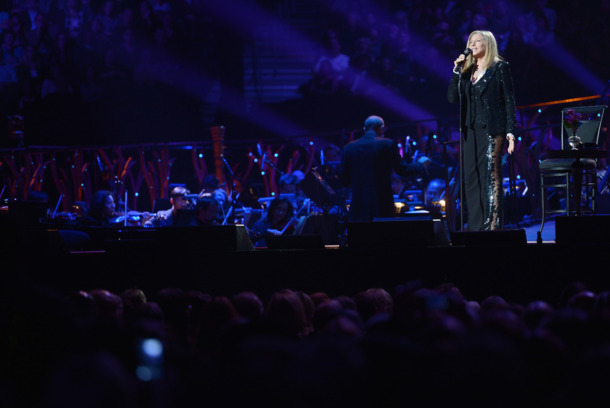 Singer Barbra Streisand performs at Barclays Center of Brooklyn on October 11, 2012 in New York City.