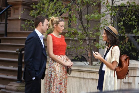 GOSSIP GIRL-- &quot;High Infidelity&quot;-- image GO602A_0582 Pictured (L-R): Barry Watson as Steven, Blake Lively as Serena Van Der Woodsen and Sofia Black-D&rsquo;Elia as Sage