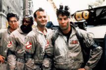 1984 --- Harold Ramis, Ernie Hudson, Bill Murray and Dan Aykroyd in the movie Ghostbusters.