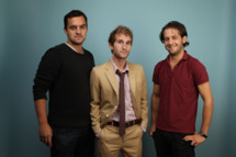 "TORONTO, ON - SEPTEMBER 14:  Actor Jake Johnson, director Max Winkler and actor Michael Angarano from ""Ceremony"" poses for a portrait during the 2010 Toronto International Film Festival in Guess Portrait Studio at Hyatt Regency Hotel on September 14, 2010 in Toronto, Canada.  (Photo by Matt Carr/Getty Images) *** Local Caption *** Jake Johnson;Max Winkler;Michael Angarano"