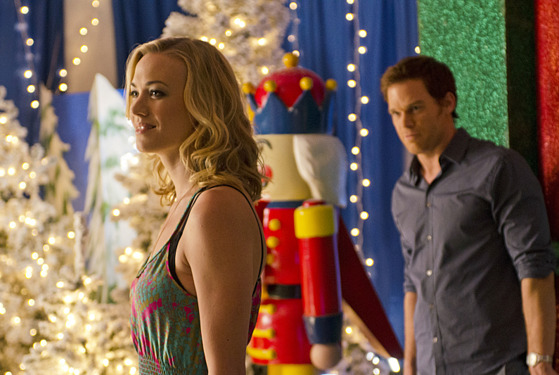 Yvonne Strahovski as Hannah McKay and Michael C. Hall as Dexter Morgan (Season 7, episode 6).