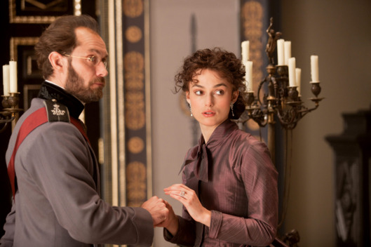 Jude Law (L) stars as Alexei Karenin and Keira Knightley (R) stars as Anna in Joe Wright's ANNA KARENINA, a Focus Features release.