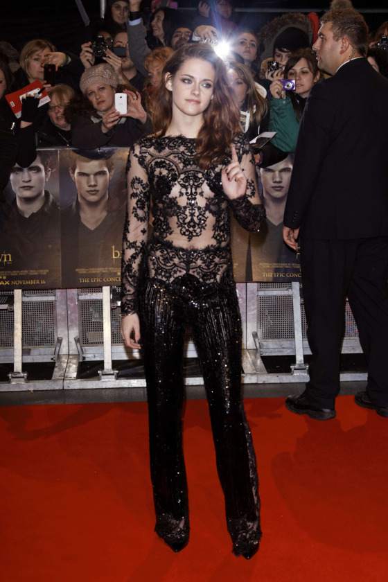 Red carpet arrivals at 'The Twilight Saga: Breaking Dawn 2 - Part 2' European premiere at the Empire Leicester Square.<P>Pictured: Kristen Stewart<P><B>Ref: SPL457826  141112  </B><BR/>Picture by: Splash News<BR/></P><P><B>Splash News and Pictures</B><BR/>Los Angeles:310-821-2666<BR/>New York:212-619-2666<BR/>London:870-934-2666<BR/>photodesk@splashnews.com<BR/></P>