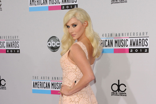 Singer Kesha attends the 40th American Music Awards held at Nokia Theatre L.A. Live on November 18, 2012 in Los Angeles, California.