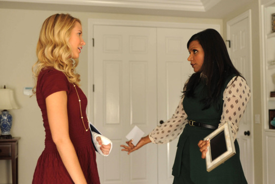 "THE MINDY PROJECT: Gwen (Anna Camp, L) and Mindy (Mindy Kaling, R) get in a fight in the ""Thanksgiving"" episode of THE MINDY PROJECT airing Tuesday, Nov. 20 (9:30-10:00 PM ET"