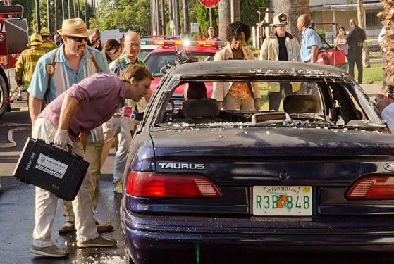 Michael C. Hall as Dexter Morgan, David Zayas as Angel Batista , C.S. Lee as Vince Masuka and Dana L. Wilson as Detective Angie Miller (Season 7, episode 9)