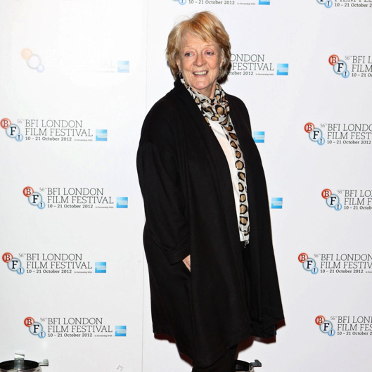 "Actress Maggie Smith attends the ""Quartet"" photocall during the BFI London Film Festival at the Empire Leicester Square on October 15, 2012 in London, England."