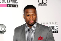 Rapper 50 Cent aka Curtis Jackson attends the 40th American Music Awards held at Nokia Theatre L.A. Live on November 18, 2012 in Los Angeles, California.
