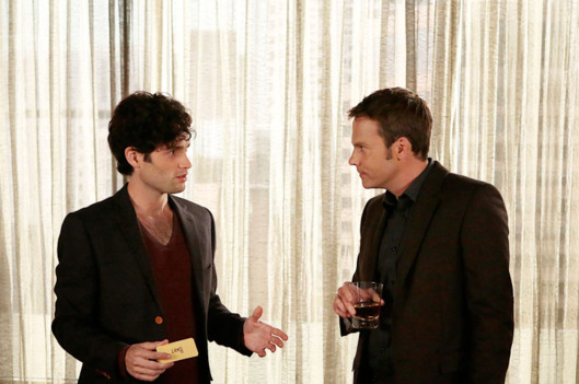"GOSSIP GIRL-- ""It's Really Complicated"" --  Pictured (L-R): Penn Badgley as Dan Humphrey and Barry Watson as Steven"