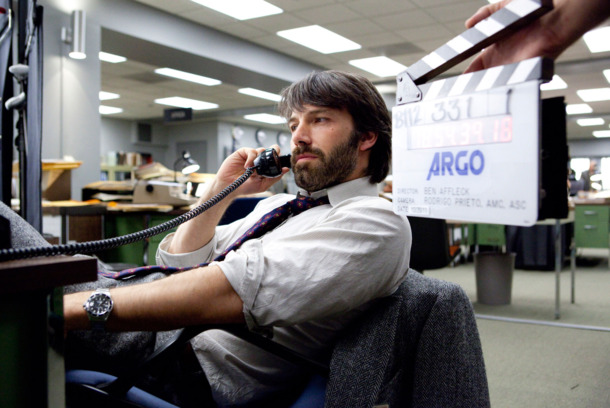BEN AFFLECK as Tony Mendez on the set of ""