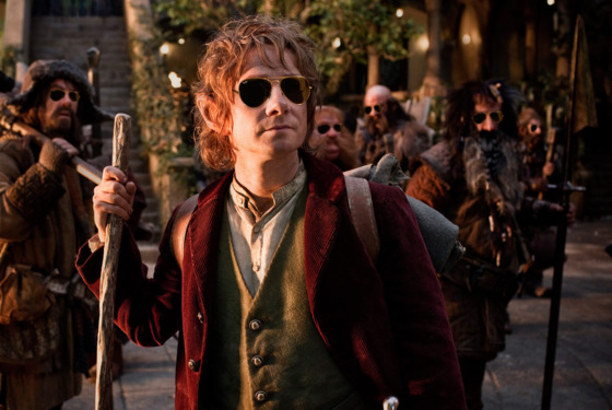 (L-r) JAMES NESBITT as Bofur, MARTIN FREEMAN (front) as Bilbo Baggins, STEPHEN HUNTER as Bombur, GRAHAM McTAVISH as Dwalin, WILLIAM KIRCHER as Bifur, and JED BROPHY as Nori in New Line Cinema&rsquo;s and MGM's fantasy adventure &ldquo;THE HOBBIT: AN UNEXPECTED JOURNEY,&rdquo; a Warner Bros. Pictures release.