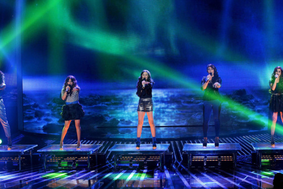 THE X FACTOR: TOP 4: Fifth Harmony performs live on THE X FACTOR, Wednesday, December 12 (8:00-9:00 PM ET/PT) on FOX. CR: Ray Mickshaw / FOX.