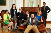 1600 PENN -- Season: Pilot -- Pictured: (l-r) Martha MacIsaac as Becca, Amara1600 PENN -- Pictured: (l-r) Martha MacIsaac as Becca, Amara Miller as Marigold, Benjamin Stockham as Xander, Bill Pullman as Dale, Josh Gad as Skip, Jenna Elfman as Emily, Andre Holland as Marshall Malloya Miller as Marigold, Benjamin Stockham as Xander, Bill Pullman as Dale, Josh Gad as Skip, Jenna Elfman as Emily, Andre Holland as Marshall Malloy -- (Photo by: Chris Haston/NBC)