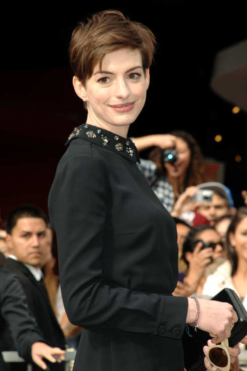 Anne Hathaway - HUGH JACKMAN HONORED WITH A STAR ON THE HOLLYWOOD WALK OF FAME - Hollywood, CA - December 13, 2012