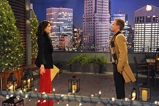 """The Final Page, Part One And Two"" --  With Christmas fast approaching, Barney (Neil Patrick Harris, right) tells Ted that he plans on proposing to Patrice, which leads Ted to debate whether or not to tell Robin (Cobie Smulders, left), on a special one-hour episode of HOW I MET YOUR MOTHER, Monday, Dec. 17 (8:00-9:00 PM, ET/PT) on the CBS Television Network. Photo: Ron P. Jaffe/Fox ?'??2012 Fox Television. All Rights Reserved."