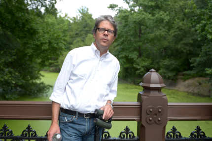 "Writer Jonathan Franzen attends the HBO Documentary Films Celebrates ""Birders: The Central Park Effect"" With A Picnic In The Park on June 26, 2012 in New York City."